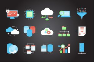 Technologie, Icônes, Internet, Symbole, Design